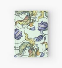 vintage floral pattern watercolor drawing Hardcover Journal