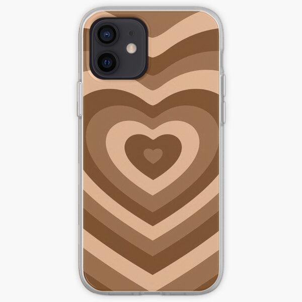 chicas superpoderosas corazón marrón Funda blanda para iPhone