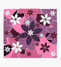 Colorful floral joy Photographic Print