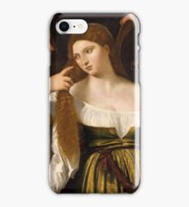 Tiziano Vecellio, Titian - Girl Before the Mirror iPhone Case/Skin