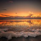 Foamy Sunset by Linda Cutche