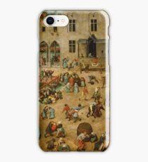 Pieter Bruegel the Elder - Children's Games  iPhone Case/Skin