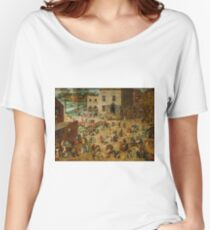 Pieter Bruegel the Elder - Children's Games  Women's Relaxed Fit T-Shirt