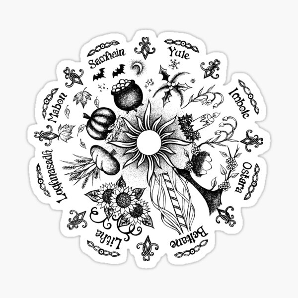 Witch's Wheel of the Year Sticker