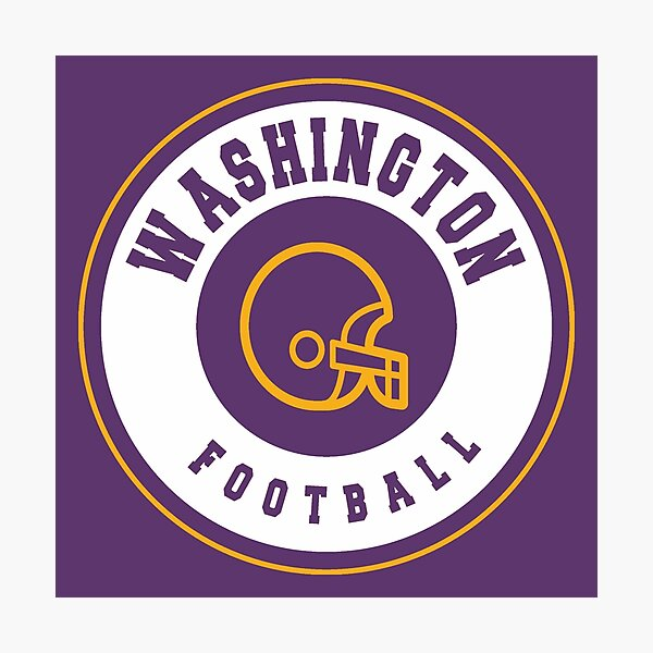 Washington vintage football Photographic Print