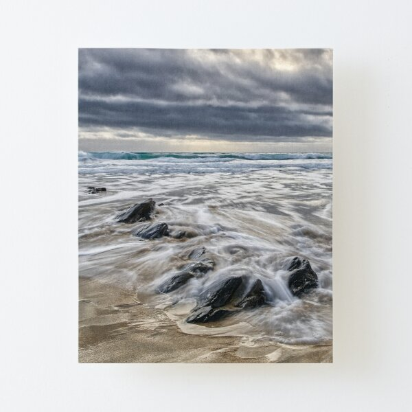 Incoming tide at Gunwalloe Church Cove, Cornwall Canvas Mounted Print