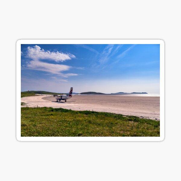 Landing on Barra Sticker