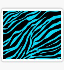 Zebra Pattern (blue) Sticker