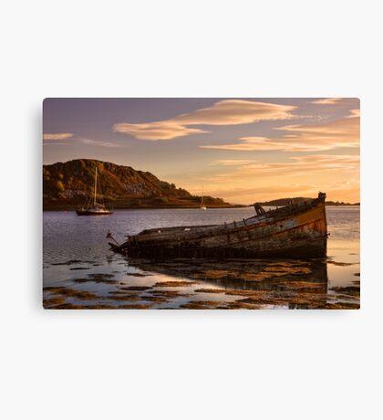 Sunken Gold on Loch Craignish Canvas Print