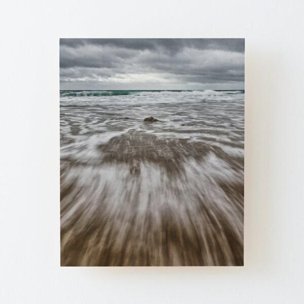 High Tide at Gunwalloe Church Cove, Cornwall Wood Mounted Print