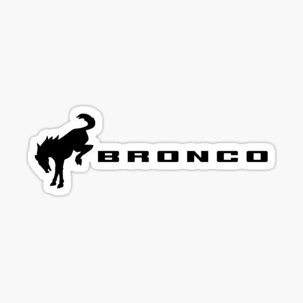 Shadow Black Ford Bronco Logo Sticker