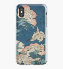 Katsushika Hokusai - Peonies and Canary Shakuyaku. Japanese Still Life . Flowers iPhone Case/Skin