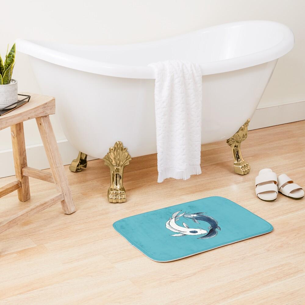 Tui and La - Yin & Yang Koi Bath Mat