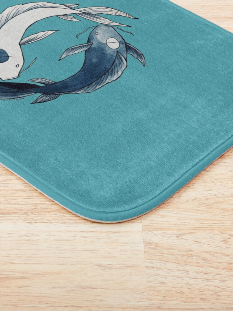 Alternate view of Tui and La - Yin & Yang Koi Bath Mat