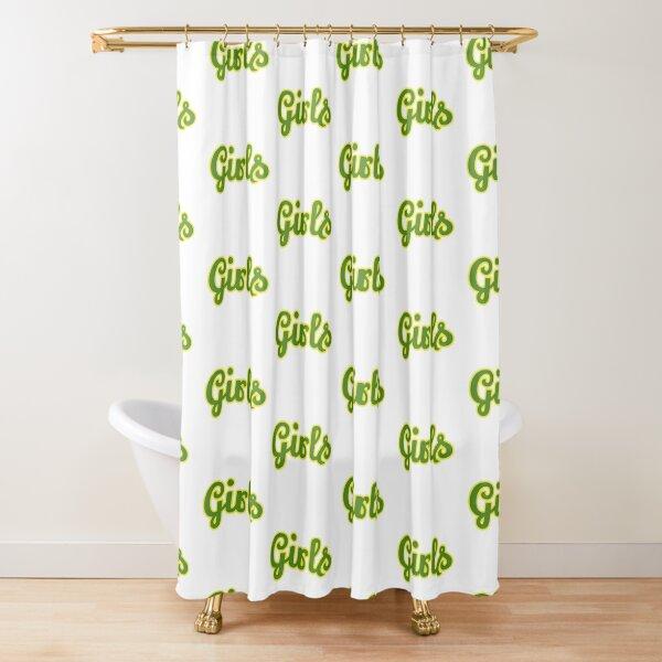 Girls green Shower Curtain