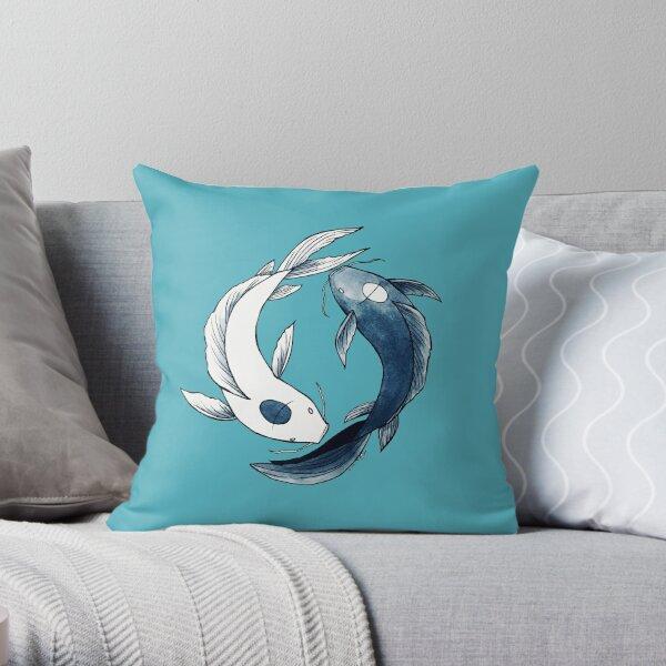 Tui and La - Yin & Yang Koi Throw Pillow