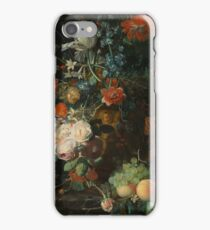 Jan van Huysum - Still Life with Flowers and Fruit  , Fashion , Love , Kiss  iPhone Case/Skin