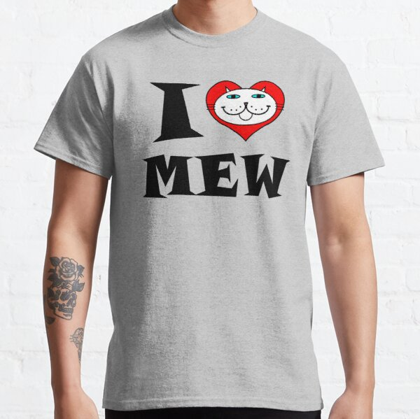 I HEART MEW - WEISSE KATZE MIT BLAUEN AUGEN Classic T-Shirt