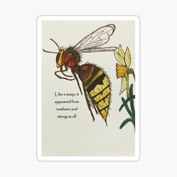 Wasp sting Sticker