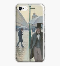 Gustave Caillebotte - Paris Street; Rainy Day 1877 , Landscape iPhone Case/Skin