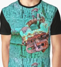 Old Lock on wooden gate Graphic T-Shirt