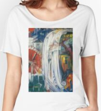 Franz Marc - The Bewitched Mill 1913  Landscape  Women's Relaxed Fit T-Shirt