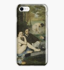 Edouard Manet - Luncheon on the Grass 1863 , French  Impressionism ,  Landscape  iPhone Case/Skin