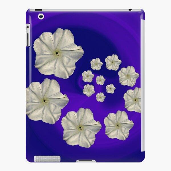 Spiral Moon Flower Purple/Blue Swirl iPad Snap Case