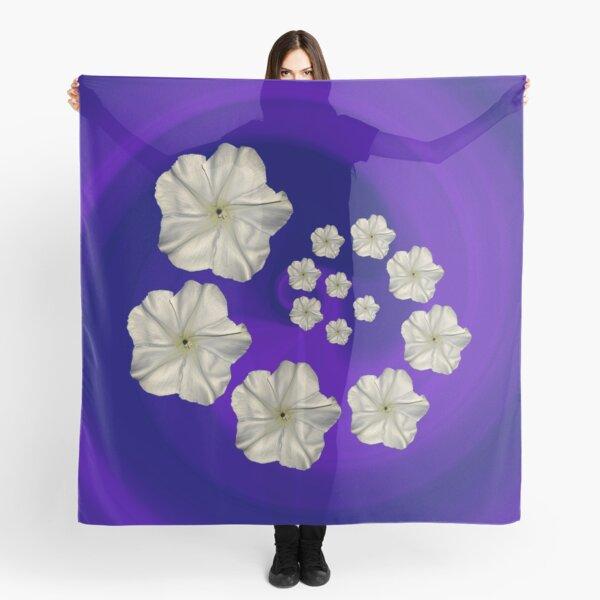 Spiral Moon Flower Purple/Blue Swirl Scarf