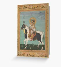 Shah Jahan on Horseback, Folio from the Shah Jahan Album, Greeting Card