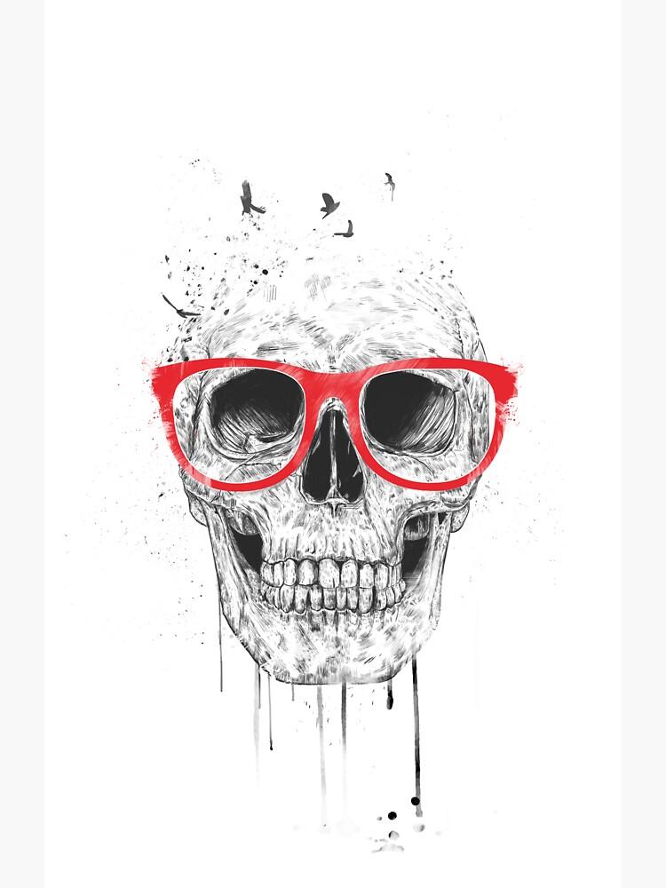 Schädel mit roten Gläsern von soltib