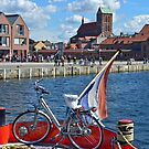 Wismar, Germany - View from a Dutch boat to Harbour and city center by Remo Kurka