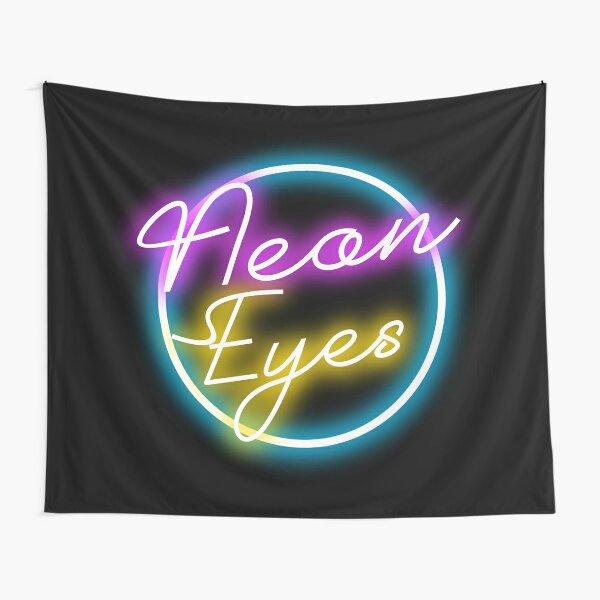 Neon Eyes Tapestry