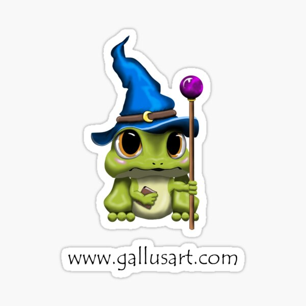 Adorable Frog Wizard - Dungeons and Froggos Sticker