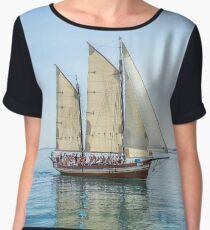 Sailing ship Women's Chiffon Top