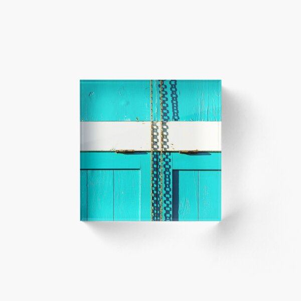 Turquoise at the seeside Acrylic Block