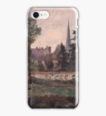 Camille Pissarro - The Church and the Farm at Eragny 1884 French Impressionism Landscape iPhone Case/Skin