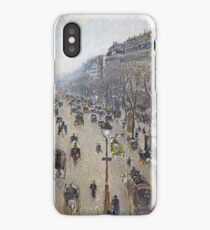 Camille Pissarro - Boulevard Montmartre, morning, cloudy weather 1897 French Impressionism Landscape iPhone Case