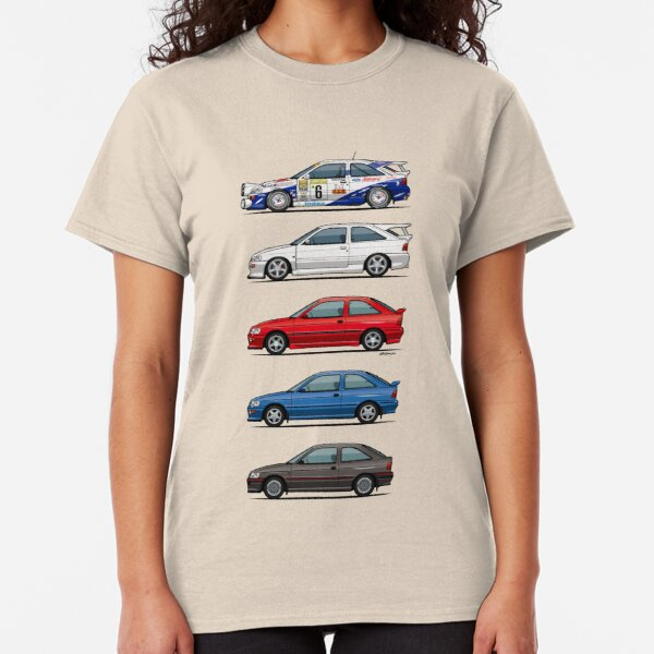 Stack of F0rd Escort Mk.5 Coupes (pre facelift) Classic T-Shirt