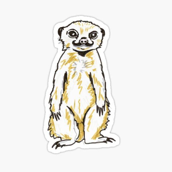 Suricata meercat mearcat Cartoon Sticker Decal Gráfico Etiqueta De Vinilo