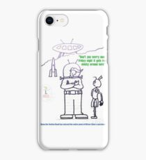 The Bachelor Moon Station Hand And The Alien Visitor iPhone Case/Skin