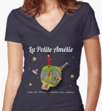 La Petite Amélie Women's Fitted V-Neck T-Shirt