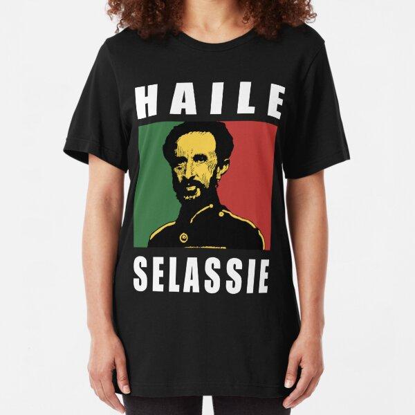 Haile Selassie WHT Slim Fit T-Shirt