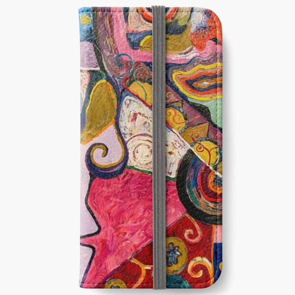 "Colorful Abstract Painting, ""Seer"" iPhone Wallet"