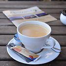 Cup of Coffee, Tasse Kaffe in the morning and latest news by Remo Kurka