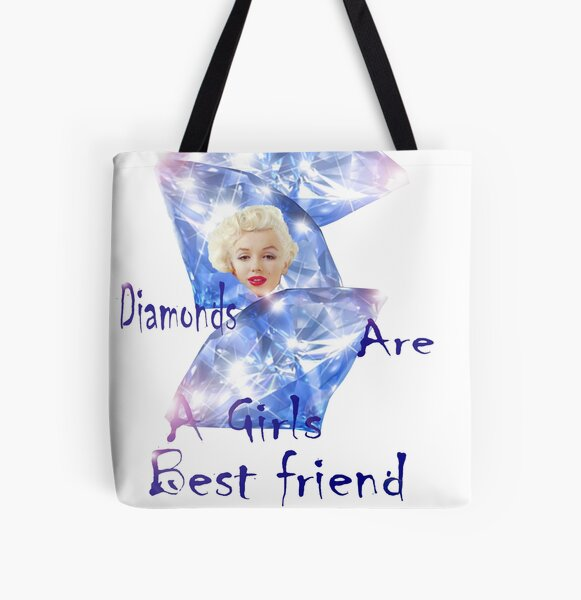 Diamonds are a Girls best friend.  All Over Print Tote Bag