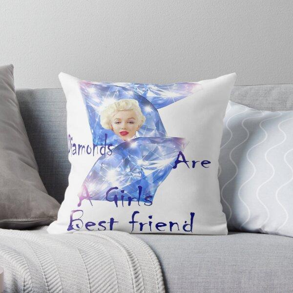 Diamonds are a Girls best friend.  Throw Pillow