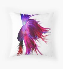 Betta Splendens ;Siamese fighting Fish Throw Pillow