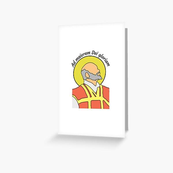 Saint Ignatius Minimalist Greeting Card