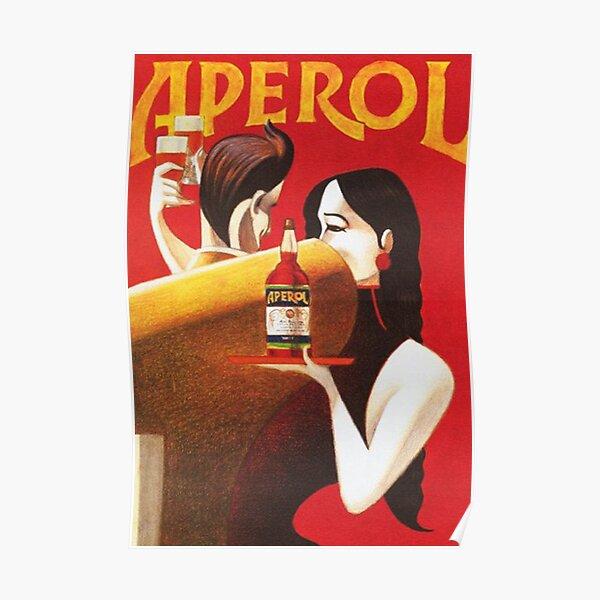 Affiche publicitaire d'apéritif de boisson alcoolisée vintage Aperol Poster